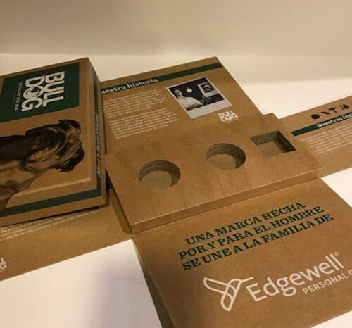 caja compartimentos cartón ecológico